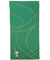 Satin Parament Pulpit Scarf, Green