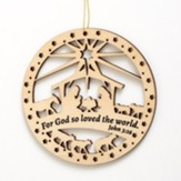 John 3:16 Laser Cut Wooden Ornament
