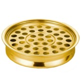 Polished Aluminum Communion Tray, Brass Tone