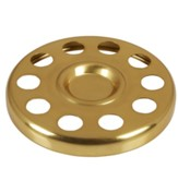 Polished Aluminum Bread Plate Insert, Brass Tone