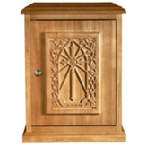 IHS Cross Tabernacle, Maple Hardwood, Oak Stain
