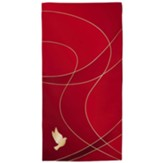 Satin Parament Pulpit Scarf, Red