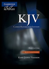 KJV Cameo Reference Bible, Calfskin, Brown - Slightly Imperfect