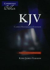 KJV Cameo Reference Bible, Goatskin, black - Slightly Imperfect