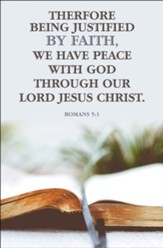 Peace with God (Romans 5:1, KJV) Bulletins, 100