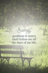 Surely Goodness and Mercy Shall Follow Me (Psalm 23:6, KJV) Bulletins, 100