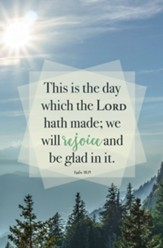 The Day Which the Lord Hath Made (Psalm 118:24, KJV) Bulletins, 100