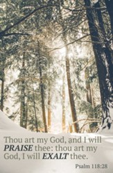 Thou Art My God (Psalm 118:28, KJV) Bulletins, 100