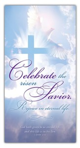 Celebrate the Risen Savior (1 John 5:11, KJV) Offering Envelopes, 100