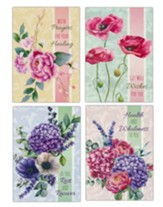 Painted Petals (KJV) Get Well Cards, Box of 12