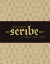 The Scribe Bible: Featuring The  Message by Eugene H. Peterson, Soft Imitation Leather, Brown Linen Weave