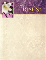 Easter Lily, He is Risen! (Mark 16:6, KJV) Letterhead, 100