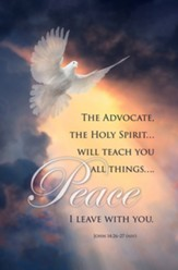 The Advocate, the Holy Spirit... Will Teach You All Things (John 14:26-27, NIV) Bulletins, 100