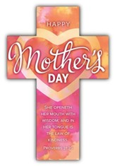Happy Mother's Day (Proverbs 31:26, KJV) Cross Bookmarks, 25