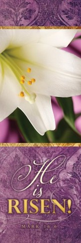 Easter Lily, He is Risen! (Mark 16:6, KJV) Bookmarks, 25