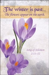 Winter is Past (Song of Solomon 2:11-12, KJV) Bulletins, 100