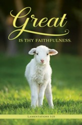 Great is Thy Faithfulness (Lamentations 3:23, KJV) Bulletins, 100