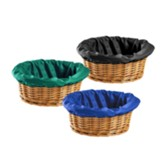 Round Offering Basket Liners (Pack of 3 in Blue, Green & Black)