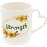 Strength, Sunflowers, Mug