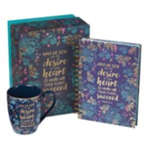 May He Give You the Desire of Your Heart, Journal and Mug Gift Set