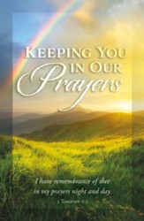 Keeping You In Our Prayers (2 Timothy 1:3, KJV) Postcards, 25