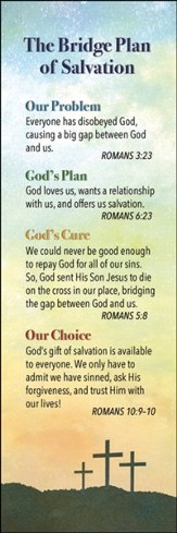 Plan of Salvation (Romans 10:13, KJV) Bookmarks, 25