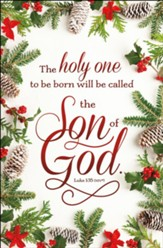 The Holy One...Will Be Called the Son of God (Luke 1:35, NIV) Bulletins, 100