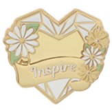 Inspire, Heart, Lapel Pin