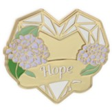 Hope, Heart, Lapel Pin
