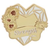 Strength, Heart, Lapel Pin