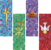 Stained Glass Series X-Stand Banner, Set of 4