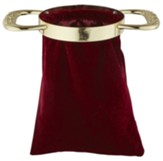 Burgundy Offering Bag with Gold Handles, Set of 2