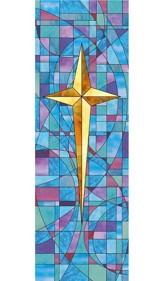 Star of Bethlehem Stained Glass X-Stand Banner