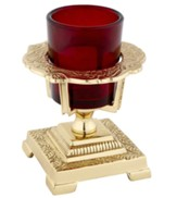 Votive Holder with Ruby Glass