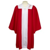 Embroidered Confirmation Robe, Red, Junior