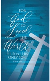 God So Loved Cross Banner- 3' x 5'
