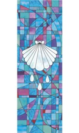Baptismal Stained Glass X-Stand Banner