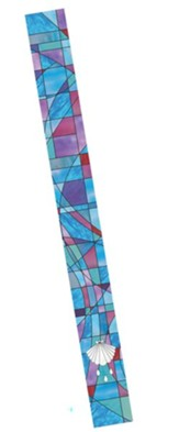 Stained Glass Bookmark, Blue