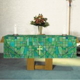 Stained Glass Altar Frontal, Green