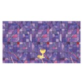 Stained Glass Altar Frontal, Purple