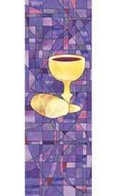 Communion Stained Glass X-Stand Banner