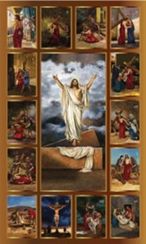 Stations Of The Cross Banner, 3' x 5'