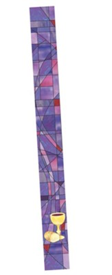 Stained Glass Bookmark, Purple