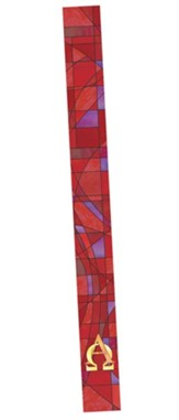 Stained Glass Bookmark, Red