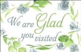 We Are Glad You Visited (Colossians 1:3) Postcards, 25