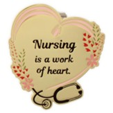 Nursing Is A Work of Heart Visor Clip
