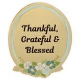 Thankful, Grateful and Blessed Visor Clip