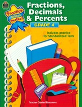 Practice Makes Perfect: Fractions,  Decimals and Percents (Grade 4)