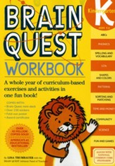 Brain Quest Kindergarten Workbook [With Stickers]