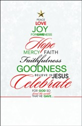 Words of Christmas Tree (John 3:16, NIV) Bulletins, 100